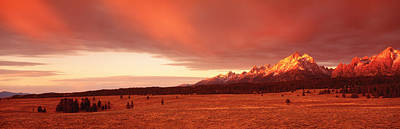 Sunrise Grand Teton National Park Wy Usa Art Print by Panoramic Images
