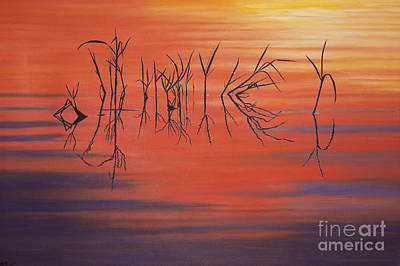 Sunrise Grass Reflections Art Print