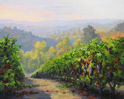 Painting - Sunrise Harvest by Karen Ilari