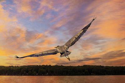 Sunrise Heron Art Print by Tracy Munson