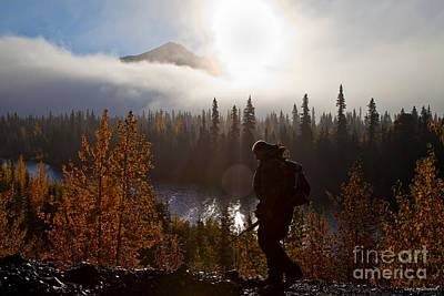 Photograph - Sunrise Hiker by Chris Heitstuman