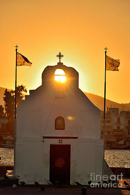 Photograph - Sunrise In Aegina Port by George Atsametakis