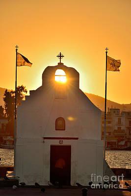 Photograph - Sunrise In Aegina Port by George Atsametakis