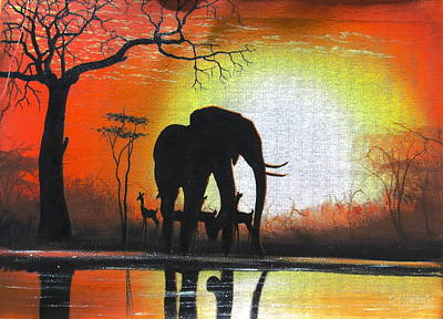 Sunrise In Africa Art Print