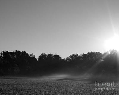 Art Print featuring the photograph Sunrise In Black And White by Anita Oakley