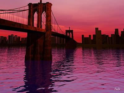 Sunrise In Brooklyn Art Print by John Pangia