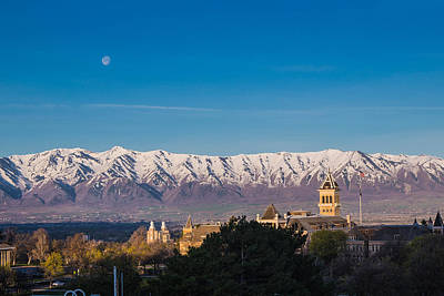 Logan Temple Photograph - Sunrise In Cache Valley by Keith and Vicki Hambly
