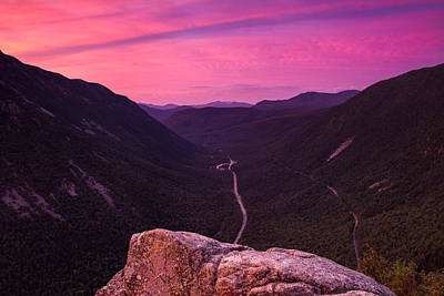 Photograph - Sunrise In Crawford Notch by Jeff Sinon