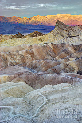 Sunrise In Death Valley Art Print