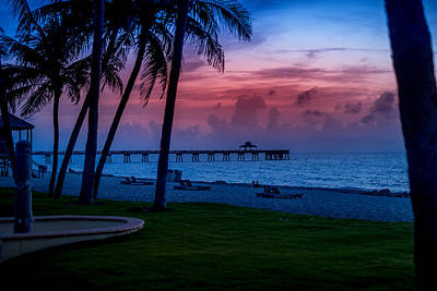 Photograph - Sunrise In Deerfild Beach by Louis Ferreira