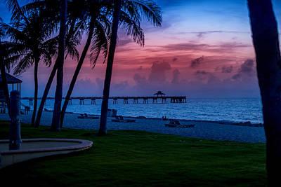 Photograph - Sunrise In Deerfild Beach by Louis Ferreira