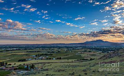 Haybales Photograph - Sunrise In Emmett Valley by Robert Bales