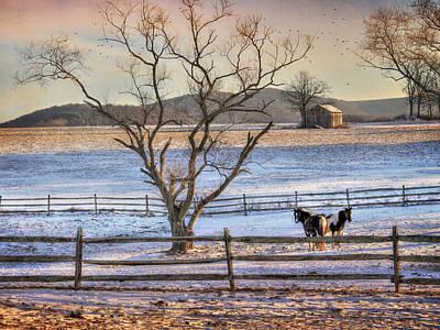 Barn Digital Art - Sunrise In Hegins by Lori Deiter
