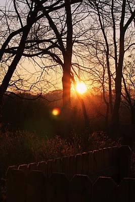 Photograph - Sunrise In Hocking Hills by Haren Images- Kriss Haren