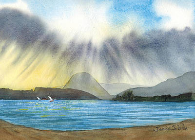 Sun Rays Painting - Sunrise In Los Osos by Janice Sobien
