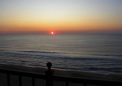 Art Print featuring the photograph Sunrise In Ocean City by Victoria Lakes