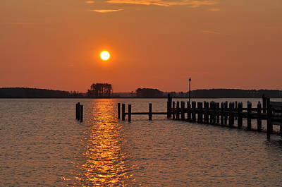 Md Digital Art - Sunrise In Piney Point Md by Bill Cannon