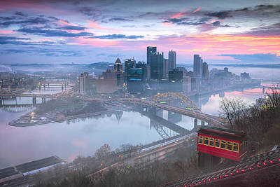Pittsburgh Skyline Photograph -  Pittsburgh Fall Day by Emmanuel Panagiotakis