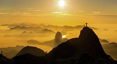 Photograph - Sunrise In Rio De Janeiro by Flavio Veloso