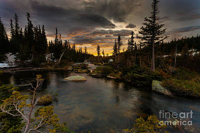 Sunrise In The Indian Peaks Art Print by Steven Reed