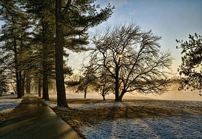 Sunrise In The Park Art Print by Robert Culver