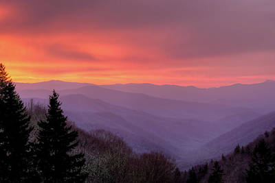 Sunrise In The Smoky Mountains Art Print by Dennis Govoni