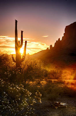 The Superstitions Photograph - Sunrise In The Superstitions  by Saija  Lehtonen