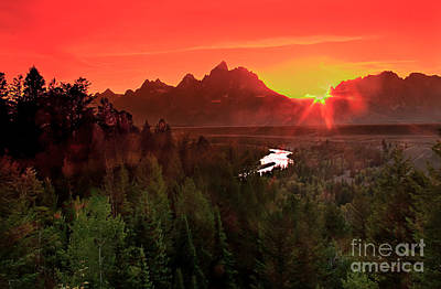 Photograph - Sunrise In The Tetons by Robert Bales