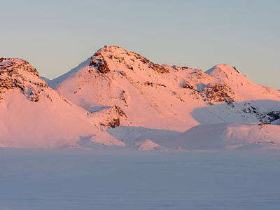 Golden Circle Photograph - Sunrise In The Wintery Mountains by Martin Zwick