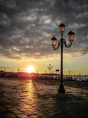 Photograph - Sunrise In Venice by Anthony Doudt