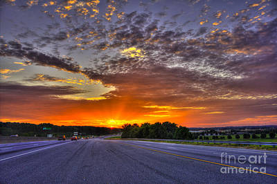 Photograph - Gore Sunrise I 20 East Stonecrest Mall Lithonia Ga by Reid Callaway