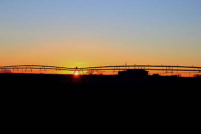 Photograph - Sunrise Irrigation by Trent Mallett