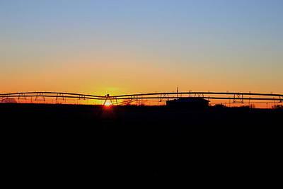 Photograph - Sunrise Irrigation by Trent Mallett