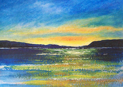 Art Print featuring the painting Sunrise by Jane  See