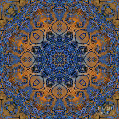 Generative Digital Art - Sunrise Kaleidoscope by Deborah Benoit