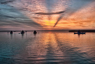 Photograph - Sunrise Kayaking by Scott Hansen