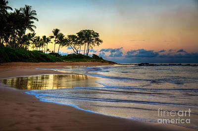 Sunrise Keawakapu Beach Art Print