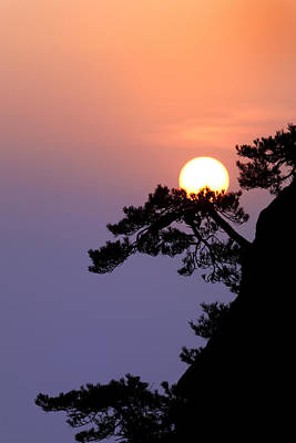 Anhui Photograph - Sunrise by King Wu