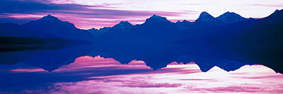 Mcdonalds Photograph - Sunrise Lake Mcdonald Glacier National by Panoramic Images