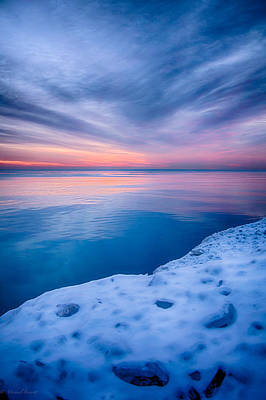 Sunrise Lake Michigan 12-19-13 2 Art Print