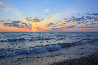 Sunrise Lake Michigan August 10th 2013 004 Art Print