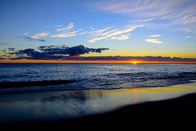 Sunrise Lake Michigan September 14th 2013 017 Art Print