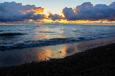 Sunrise Lake Michigan September 2nd 2013 002 Art Print