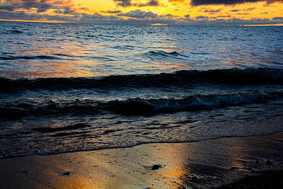 Sunrise Lake Michigan September 2nd 2013 003 Art Print