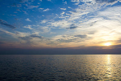 Sunrise Lake Michigan September 7th 2013 003 Art Print