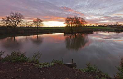 Sunrise Lenton Fishing Pond Art Print