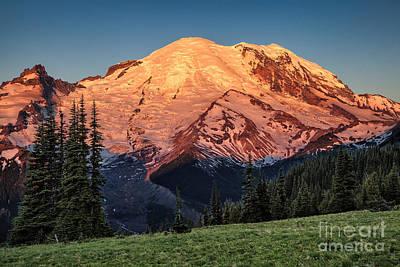 Photograph - Sunrise Light On Rainier by Stuart Gordon