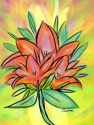 Sunrise Lily Art Print by Christine Fournier