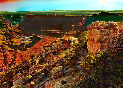 Photograph - Sunrise Lipan Point Grand Canyon by Bob and Nadine Johnston