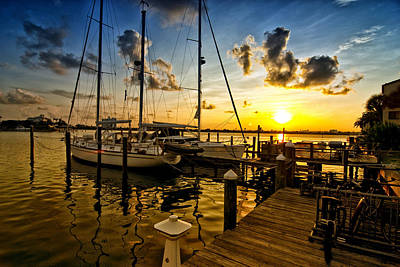 Photograph - Sunrise Marina by Kevin Cable